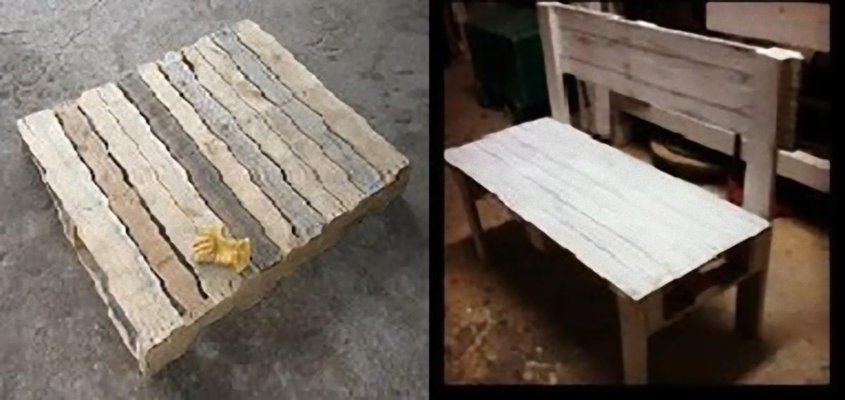 falegnameria riciclo panchina pellet propositivo